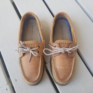 Sperry sz 8.5 tan suede boat shoes
